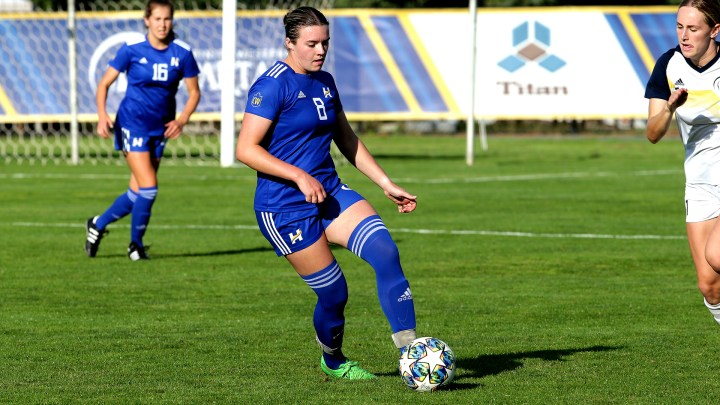 Kelowna native Stefanie Young scored a pair of goals in her debut for the UBCO Heat (Photo Credit: Trinity Western Athletics)