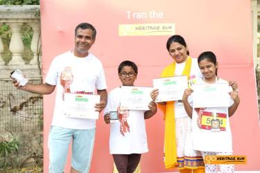 The runner family - Giri has participated in ALL of our runs till now! His family frequently accompanies him and they make a vacation out of it.