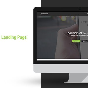 Confidence Responsive Parallax Landing Page Html