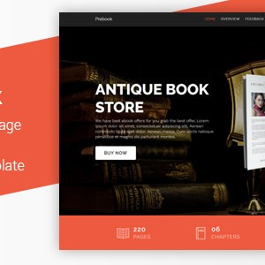 Prebook – EBook Landing Page Responsive Bootstrap 4 Template