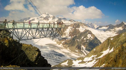 Viewing Platform above the Tiefenbach Glacier