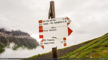 On to the Vièl dal Pan on Alta Via 2