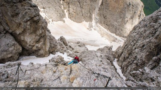 Secured section at Val Setus