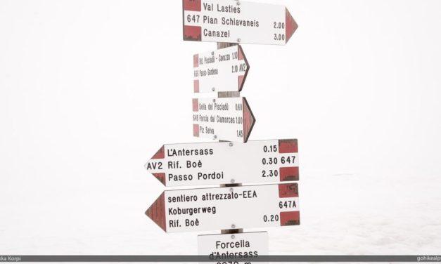 Passo Gardena to Passo Pordoi – Whiteout!