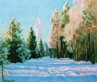 January: Frosting, by Stanislav Zhukovsky