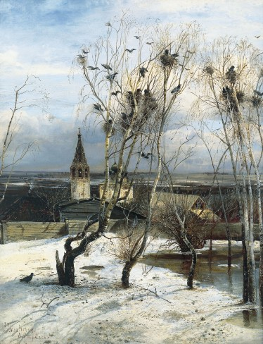 March: The Rooks Have Returned, by Alexey Savrasov