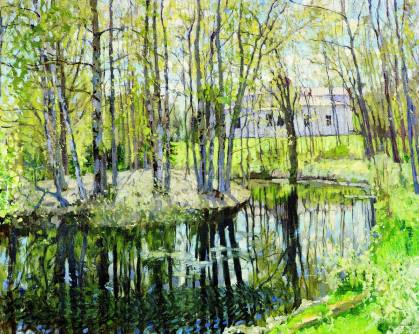 April: Old Estate, by Stanislav Zhukovsky