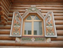 Whimsical, carved windows