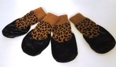 Leopard dog booties
