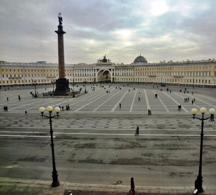 Palace Square as seen from the Winter Palace