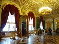 Red, gold and malachite room, Hermitage
