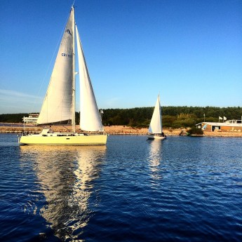 Boats on the Baltic Sea