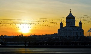 15 Sun sets over Cathedral of Christ the Savior