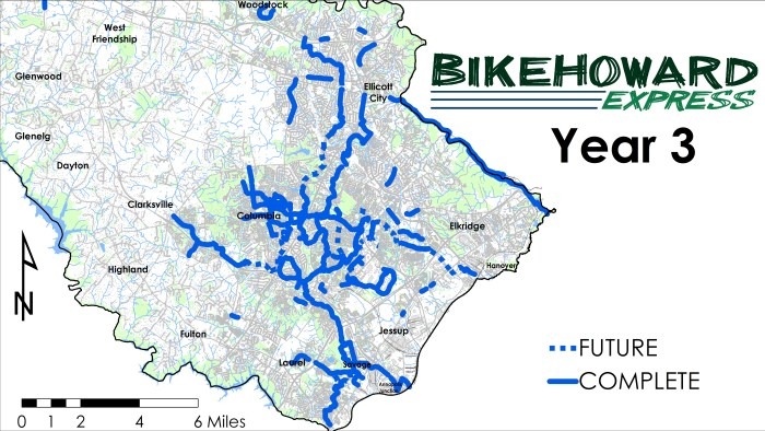 BikeHoward Express Static Map