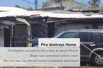 Virgin islands Fire Destroy Home