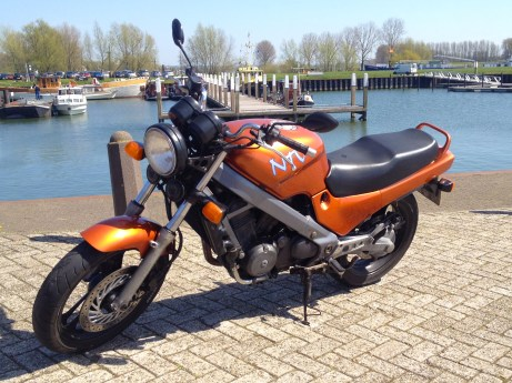I even had a second motorcycle, my Honda NVT (Niet Van Toepassing)
