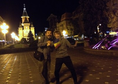 Greetings from Timisoara, Romania!