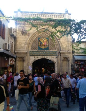 Walking through the Grand Bazaar in Istanbul