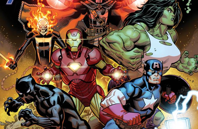 THOR! CAPTAIN AMERICA! IRON MAN! EARTH'S MIGHTIEST HEROES FIGHT AS ONE in AVENGERS #1!