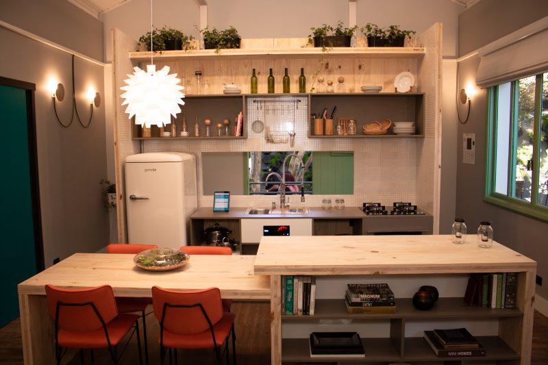 Cozinha e sala de jantar da Casa Sustentável Leroy Merlin