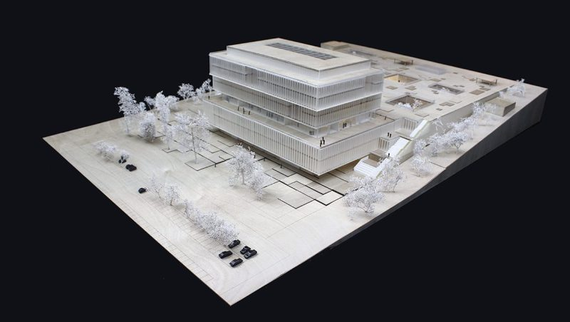 Estrutura do projeto da nova sede da Solvay