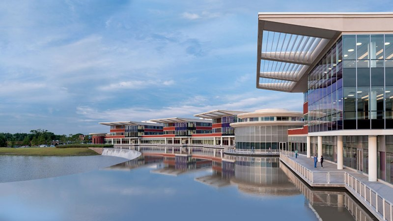 fachada do Northwestern Medicine Lake Forest Hospital certificado LEED