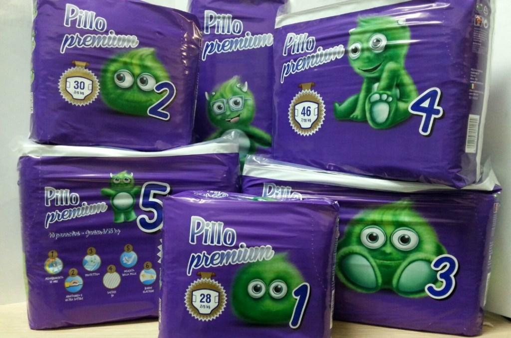 Pannolini Pillo gamma prodotti premium