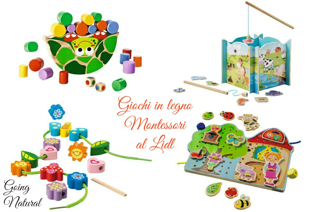 giochi in legno montessori lidl
