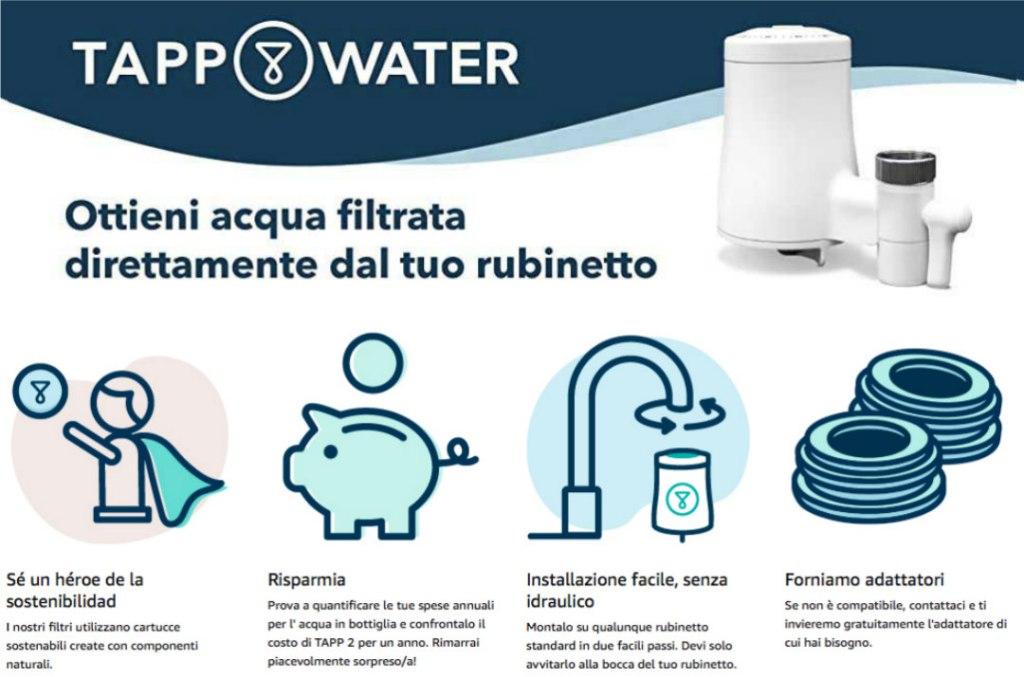 tapp water filtro rubinetto sostenibile
