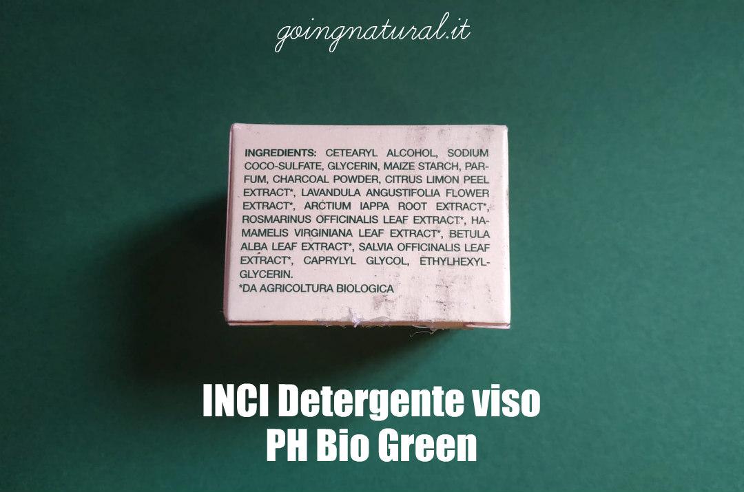 PH Bio Green INCI detergente viso