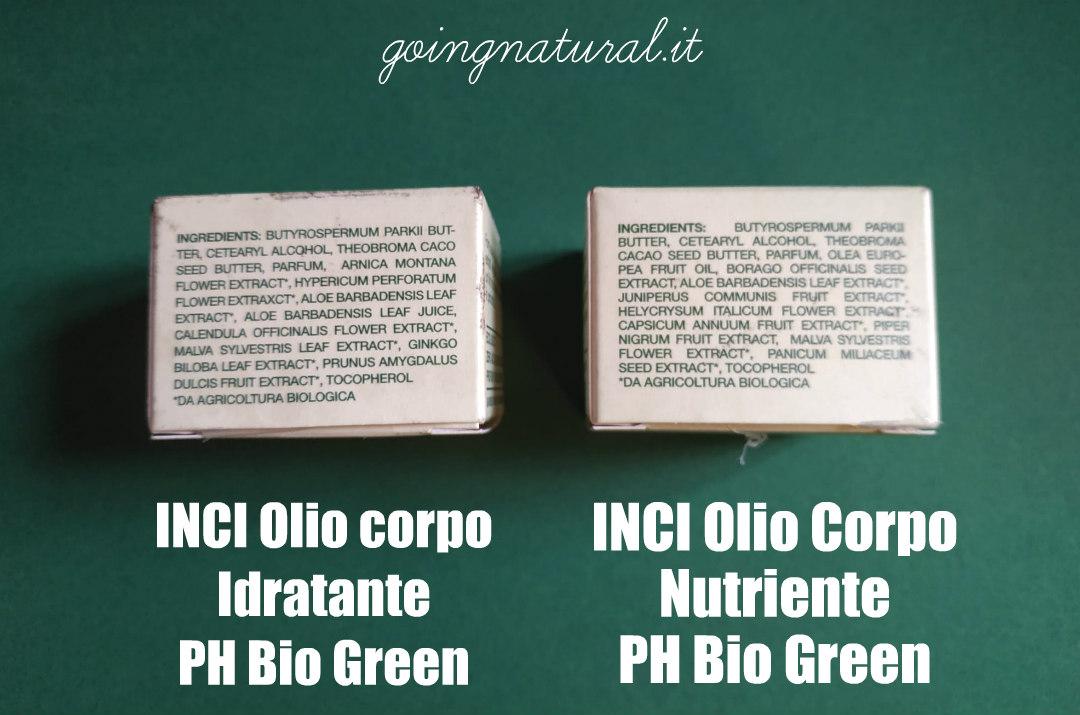 PH Bio Green INCI Olio corpo