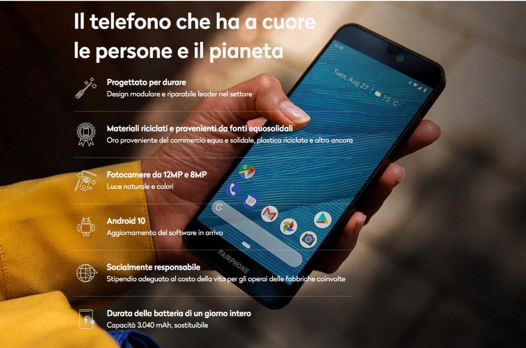 fairphone 3 caratteristiche