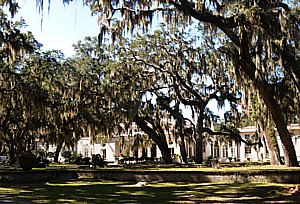 The Reynolds Mansion through the Live Oak, Sapelo Island © 2015 Karen Rubin/news-photos-features.com