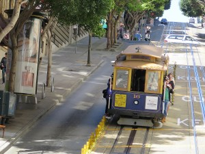 "San Francisco's cable cars are literally ""rolling museums."" San Francisco is the only city where cable cars are still used on city streets. © 2015 Karen Rubin/news-photos-features.com"