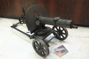American Gatling gun used during WW1. (Photo by Tim Campbell)