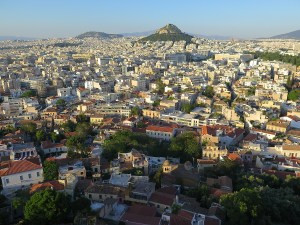The city of Athens sprawls out in front of you from the Acropolis Hill © 2015 Karen Rubin/news-photos-features.com