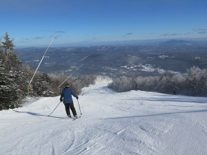 Great trails and snowmaking enable you to bump up your skiing at Okemo Mountain, Vermont © 2016 Karen Rubin/news-photos-features.com