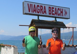 Taking a photo at Viagra Beach is irresistable © 2016 Karen Rubin/goingplacesfarandnear.com
