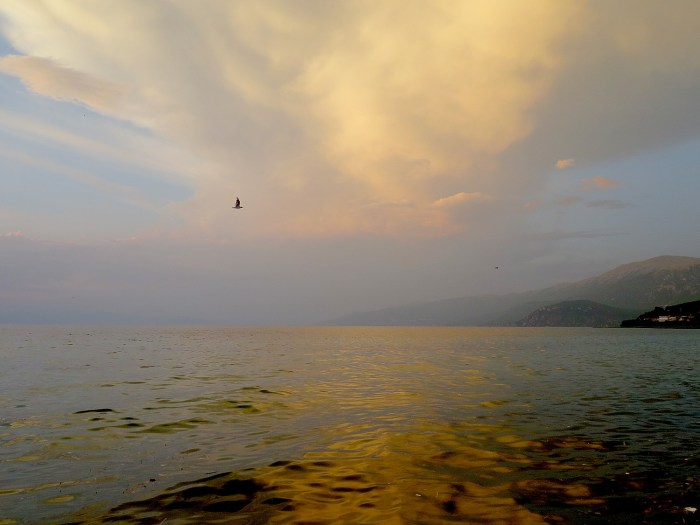 Sunset on Lake Ohrid © 2016 Karen Rubin/goingplacesfarandnear.com