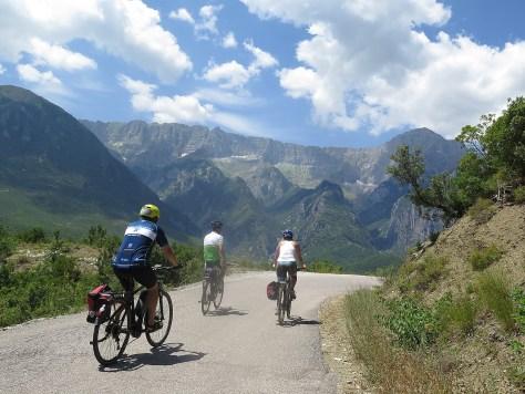 Biking through Albania with BikeTours.com President Jim Johnson © 2016 Karen Rubin/goingplacesfarandnear.com