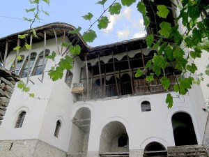 Skendulate House, one of the grandest and oldest in historic Gjirokaster, Albania © 2016 Karen Rubin/goingplacesfarandnear.com