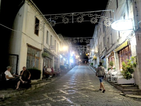 Night time in Gjirokaster's bazaar © 2016 Karen Rubin/goingplacesfarandnear.com