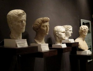 Busts of Augustus and Livia in the museum at Butrint © 2016 Karen Rubin/goingplacesfarandnear.com