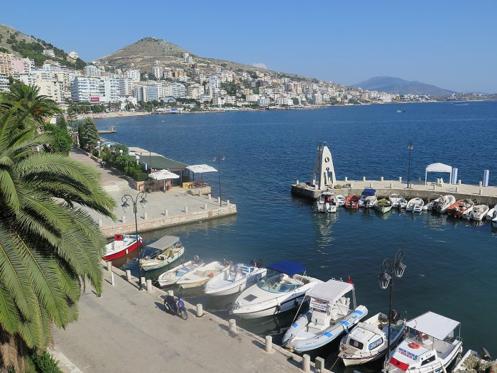 Saranda, a cosmopolitan resort town on Albania's Riviera © 2016 Karen Rubin/goingplacesfarandnear.com