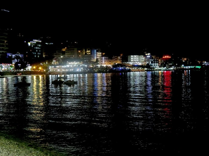 Nighttime in Saranda © 2016 Karen Rubin/goingplacesfarandnear.com