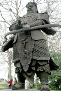 A statue of King Qian, who established Hangzhou as a capital city © 2016 Karen Rubin/goingplacesfarandnear.com.