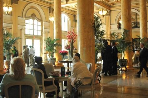 "The lobby of The Willard InterContinental, Washington DC (1847) Washington, DC, from which the term ""lobbyist"" derived © 2016 Karen Rubin/goingplacesfarandnear.com"
