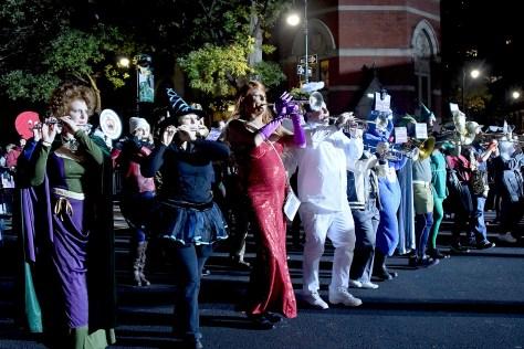 Gay Lesbian Marching Band join the Village Halloween Parade © 2016 Karen Rubin/goingplacesfarandnear.com