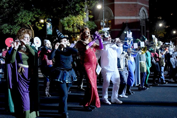 Gay Lesbian Marching Band join the Village Halloween Parade © 2016 Karen Rubin/goingplacesfarandnear.com