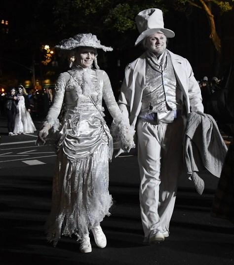Ghostly presence in the Village Halloween Parade © 2016 Karen Rubin/goingplacesfarandnear.com